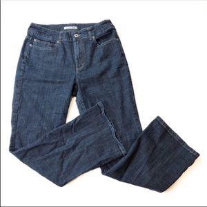 Chico's Platinum Charm Denim Blue Jeans 10 Short